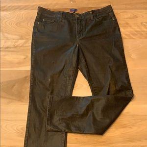 2/$15 nydj skinny faux brown leather pants